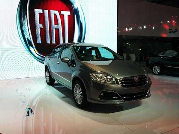 2014 Fiat Linea shows up at Auto Expo