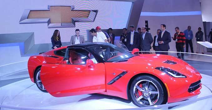 2014 Auto Expo Chevrolet Corvette Stingray C7 Makes Its Indian