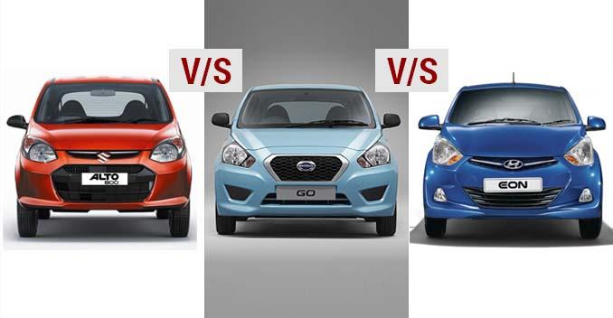 Datsun Go vs Maruti Alto 800 vs Hyundai Eon - A quick comparison
