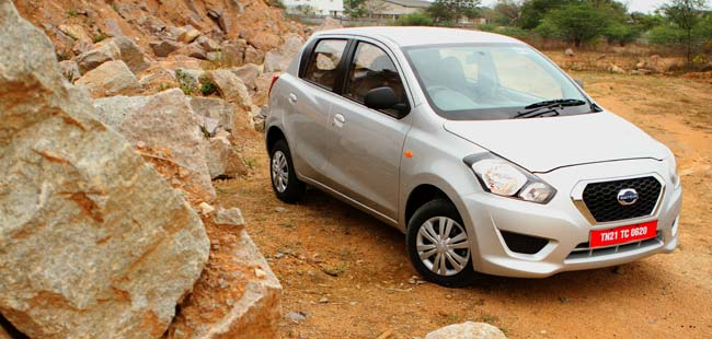 Datsun launches the GO hatchback at ₹ 3.12 lakhs