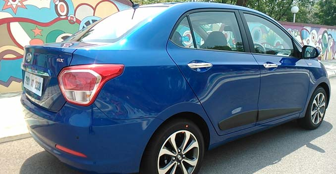 Hyundai Xcent Review - Side profile