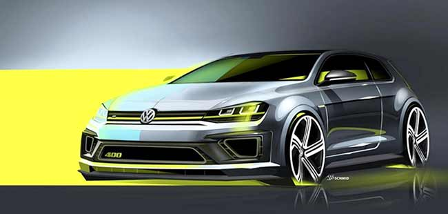 Volkswagen Group Releases Sketches Of The Golf R400 Heading To