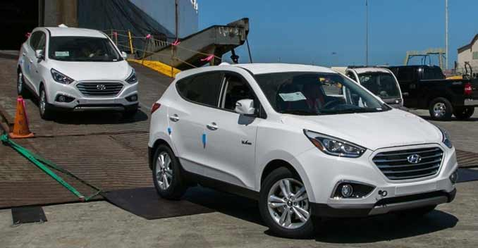 Hyundai's Hydrogen Fuel Cell CUVs Hit U.S. Shores