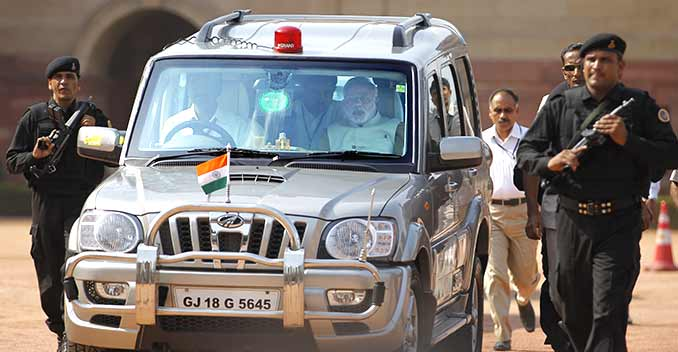 Narendra Modi Ditches Mahindra Scorpio For An Armoured Bmw