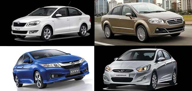 Comparison: Honda City vs Hyundai Verna vs Skoda Rapid vs Fiat Linea