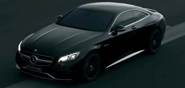 Mercedes-Benz Shows off a Menacing Black S63 AMG Coupe