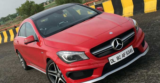 Mercedes benz cla 45 amg review red hot ready to go for Red mercedes benz cla
