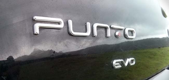 2014 Fiat Punto Evo badge