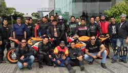 Honda Hosts Bike Ride for Delhi Superbikers