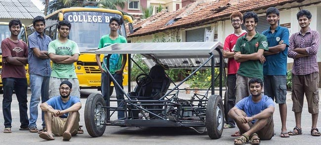 A Solar Car by Manipal University Students