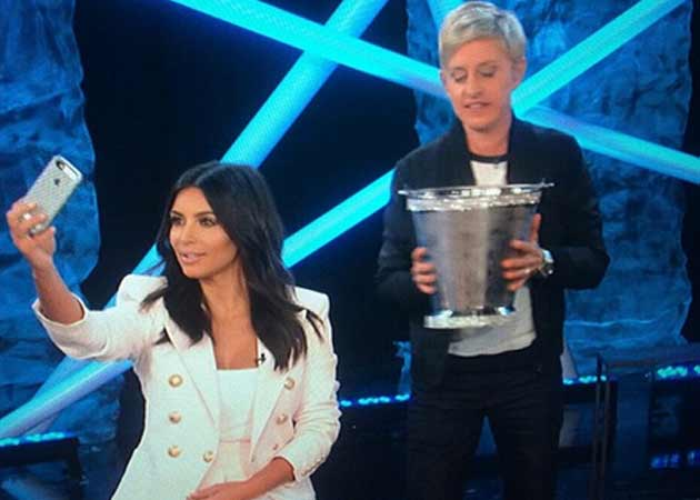 Kim Kardashian Finally Keeps Up With the Ice Bucket Challenge on Ellen