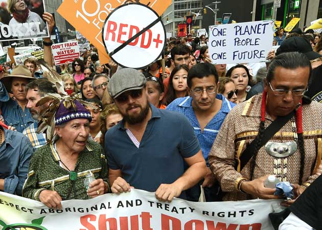 Leonardo DiCaprio, Mark Ruffalo, Sting at March for Climate Change