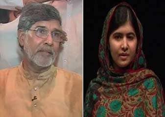 भारत के सत्यार्थी, पाकिस्तानी की मलाला को शांति का नोबेल पुरस्कार