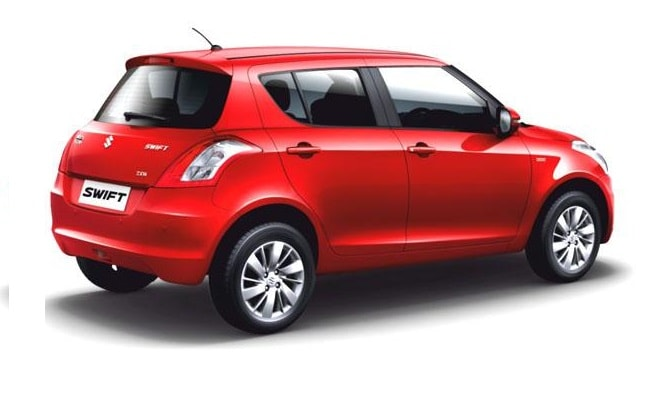 New Maruti Swift facelift side-rear profile