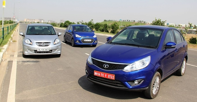 Honda Amaze vs Tata Zest vs Hyundai Xcent - Comparison Review