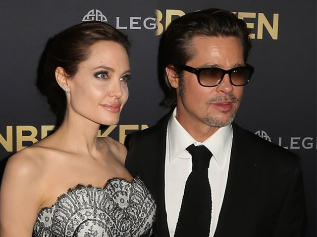 Angelina and Brad Make First Appearance as Mr and Mrs Pitt