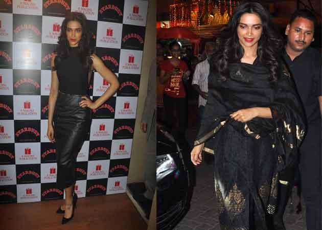 Deepika Padukone Wears Black to Work and Pray