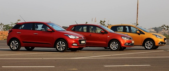New Volkswagen Polo vs Hyundai Elite i20 vs Fiat Punto Evo comparison