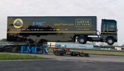 Renault Truck Jumps Over Lotus F1 Car And Sets a World Record
