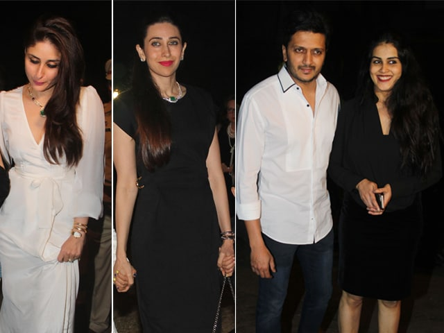 Kareena, Karisma, Genelia and Riteish Start Christmas Celebrations With Midnight Mass