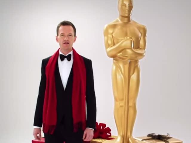 Neil Patrick Harris Stars in Christmas-Themed Oscar Promo