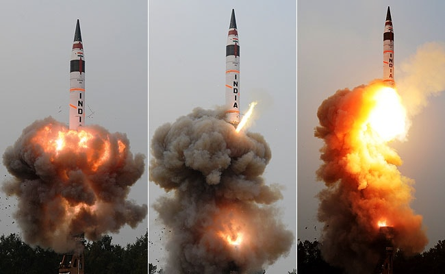 Nuclear Capable Missile Agni- 5 successfully catapulted by India
