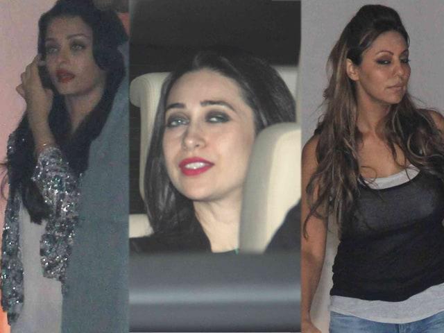 Aishwarya Rai, Karisma Kapoor, Gauri Khan Party at Karan Johar's