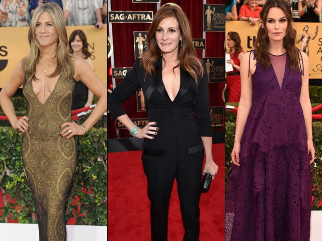 SAG Awards Red Carpet: Jennifer Aniston, Keira Knightley, Julia Roberts Steal the Show