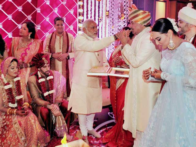 At Sonakshi Sinha's Brother's Wedding: Narendra Modi, Bachchans and A-List Guests