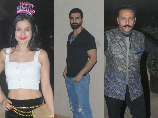 Inside Sanjay Dutt's New Year Party