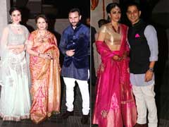Karisma, Malaika at Kareena-Saif's Nawabi <i>Daawat</i> For Soha