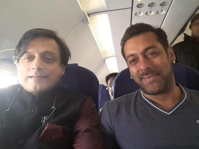 Salman Khan, Shashi Tharoor's Mid-Air Selfie