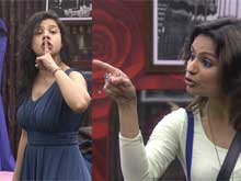 <i>Bigg Boss 8</i>: Sambhavna Seth Hurls a Shoe at Dimpy Mahajan in Rage
