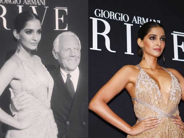 Ooh La La: Sonam Kapoor in Front Row at Armani Show in Paris