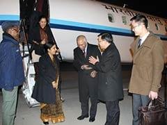 External Affairs Minister Sushma Swaraj Arrives in Beijing on Four-Day Visit