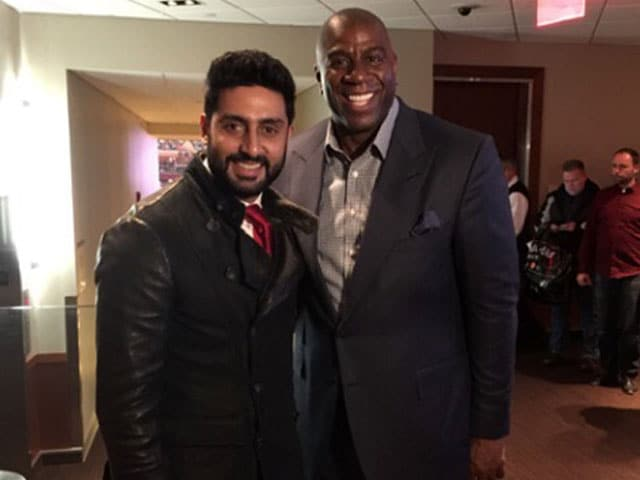 Abhishek Bachchan's 'Childhood Dream' Comes True, Meets Magic Johnson