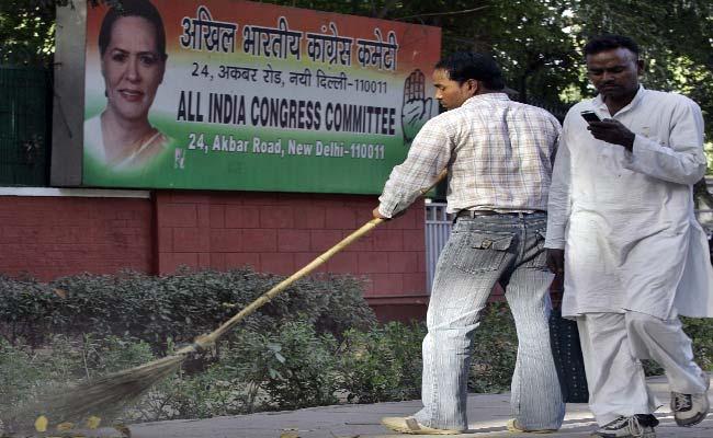 विधानसभा चुनाव परिणाम 2017 : कांग्रेस मुख्यालय में शुरुआती जश्न के बाद सन्नाटा पसरा