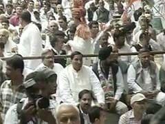 Congress Holds '<i>Zameen Wapasi</i>' Rally Minus Rahul Gandhi