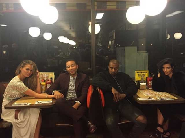 Kim and Kanye Double Date With Mr and Mrs John Legend