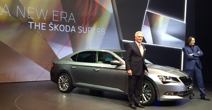 Third Generation Skoda Superb Unveiled in Prague