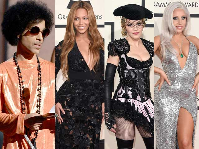 Grammys Fashion: Orange-Clad Prince Eclipses Beyonce, Madonna, Gaga