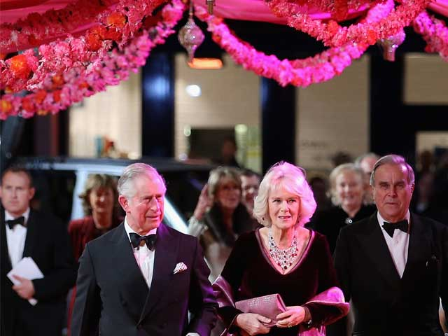 Prince Charles, Camilla Among Marigolds at Bollywood-Style Premiere
