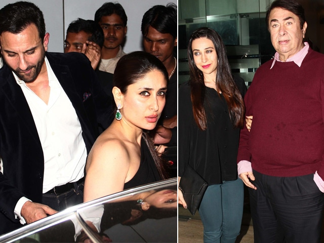 Kareena, Karisma and Saif Celebrate Randhir Kapoor's Birthday