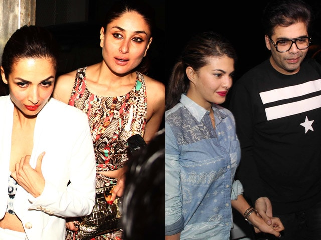 Kareena, Jacqueline, Malaika at Zoya's Party. Karan Johar is Lone Male