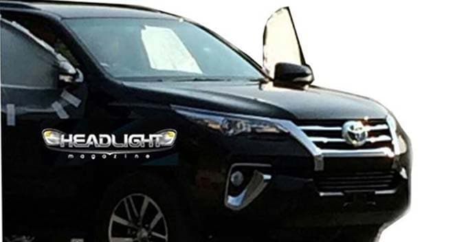 2016 Toyota Fortuner to Look Sleeker; Spy Pictures Revealed