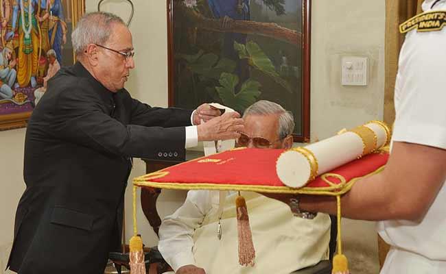 Former Prime Minister Atal Bihari Vajpayee Receives Bharat Ratna, India's Highest Civilian Honour
