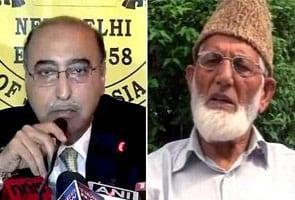 पाकिस्तान के उच्चायुक्त अब्दुल बासित ने अलगाववादी नेता गिलानी से मुलाकात की