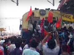 BJP's Protesting Student Activists Stop Trains, Block Highways, Burn Tyres in Bihar