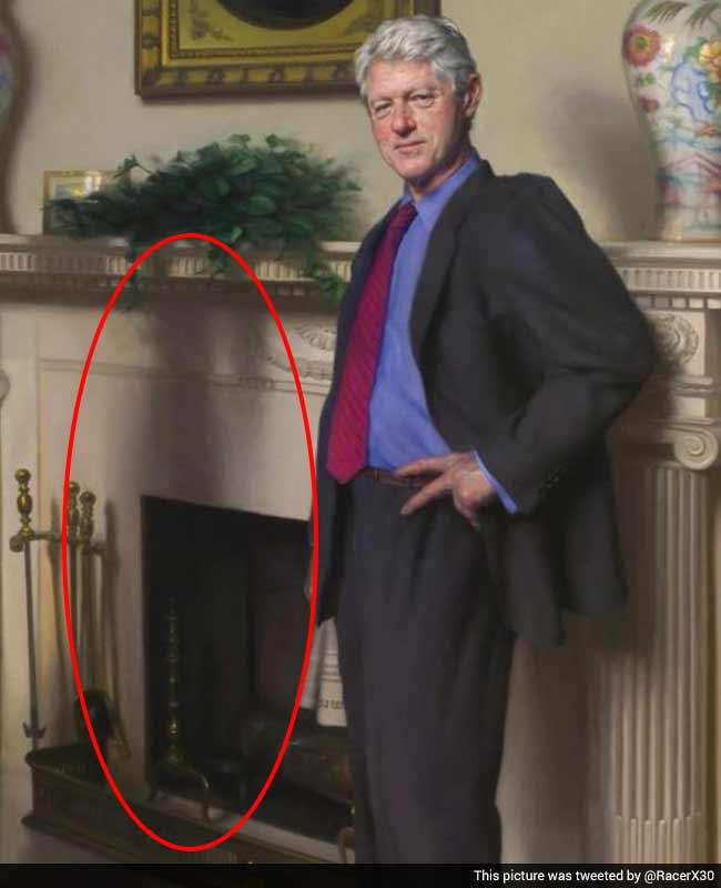 Artist Claims Clinton Portrait Hides Monica Lewinsky Reference