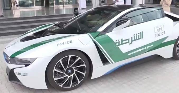 The Dubai Police Force Gets Its First Hybrid Car The Bmw I8 Ndtv